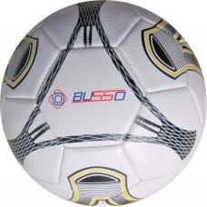 Busso FT5411B Makine Dikişli Futbol Topu (Beyaz / Gold) No:5